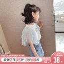 T-shirt white Princess Yuanyuan The recommended height is about 100-110cm for Size 110, 110-120cm for Size 120, 120-130cm for Size 130, 130-140cm for size 140, 140-150cm for size 150 and 150-160cm for size 160 female summer Short sleeve Crew neck Korean version There are models in the real shooting
