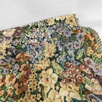 Fabric / fabric / handmade DIY fabric hemp If you need to send samples, please contact the customer service and return them to the ready to wear map for welfare Loose shear rice Plants and flowers jacquard weave clothing Europe and America
