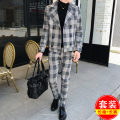 Suit Fashion City Others Tibetan 1980 Top + pants, coffee 1980 Top + pants, black grey 1980 Top + pants 170/84A,165/88A,175/96A,180/100A,185/104A routine Flat lapel No slits autumn Self cultivation Triple double breasted Other leisure youth Business Casual Widened collar type (above 11cm) 2019