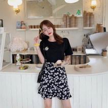 Women's large Summer 2020 M [80-100 Jin], l [100-120 Jin], XL [120-140 Jin], 2XL [140-160 Jin], 3XL [160-180 Jin], 4XL [180-200 Jin] Two piece set commute moderate Short sleeve Korean version