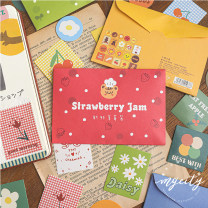 Stickers Other / other Little orange and cat, fresh strawberry jam, colorful circle, dancing in the forest decorate