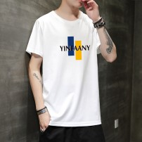 T-shirt Youth fashion White, black, light blue routine M,L,XL,2XL,3XL,4XL Others Short sleeve Crew neck standard daily summer T931 youth routine Youthful vigor Cotton wool 2020 Alphanumeric printing cotton Chinese culture tto  More than 95%