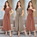 Casual pants Light caramel and light coffee XXL M L XL Summer of 2019 Ninth pants Jumpsuit High waist commute Thin money 25-29 years old 81% (inclusive) - 90% (inclusive) YLS19B1296 Yi Lanshan other Korean version pocket Other 100% Pure e-commerce (online only) Asymmetry