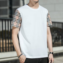 T-shirt Youth fashion Black and white routine 170/88A 175/92A 180/96A 185/100A 190/104A Lakey / Lexy Short sleeve Crew neck easy Other leisure summer BABO-2533 Polyester fiber 42.5% modal fiber (modal) 26.4% cotton 23% mulberry silk 5.2% polyurethane elastic fiber (spandex) 2.9% youth routine tide