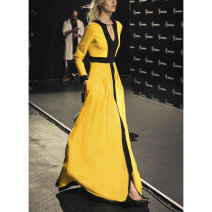 Jumpsuit / pants 96% and above trousers other High waist commute yellow S M L XL Spring 2021 WMGCL348 Witch and Knight Pure e-commerce (online only)