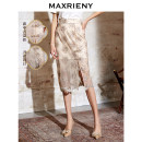 skirt Spring 2021 01/S 02/M 03/L Shallow gold longuette commute High waist skirt Decor Type H 25-29 years old MS8310420022SK0 More than 95% Lace MaxRieny nylon printing Retro Polyamide fiber (nylon) 100% Pure e-commerce (online only)