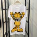 T-shirt white S,M,L Summer 2021 Short sleeve Crew neck easy cotton 86% (inclusive) -95% (inclusive) STEO&UR