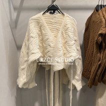 Wool knitwear Autumn 2020 S,M,L This is white Long sleeves Cardigan other 81% (inclusive) - 90% (inclusive) have cash less than that is registered in the accounts Self cultivation V-neck STEO&UR