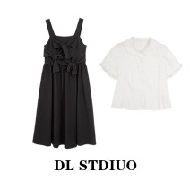 Dress Summer 2021 Strap skirt, short sleeve S,M,L,XL Mid length dress other commute square neck High waist Solid color Socket A-line skirt Others Type X Other / other Korean version xiaozhenshanshan11 31% (inclusive) - 50% (inclusive) other cotton
