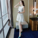 Dress Summer of 2018 white S M L Short skirt singleton  Sleeveless commute Crew neck High waist Solid color zipper A-line skirt other Others 25-29 years old Type A NIAT Korean version 31% (inclusive) - 50% (inclusive) cotton Pure e-commerce (online only)
