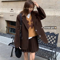Fashion suit Winter 2020 S. M, average size Jacket, pleated skirt Other / other