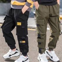 trousers Tagkita / she and others male 110cm,120cm,130cm,140cm,150cm,160cm Black, army green, black plush, Army Green Plush spring and autumn trousers Korean version There are models in the real shooting Leggings Leather belt middle-waisted cotton Don't open the crotch Class B Chinese Mainland