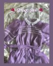 Dress Summer 2020 Grape violet, order the next batch of grape violet S, M Mid length dress singleton  Short sleeve commute Crew neck High waist Solid color A button A-line skirt puff sleeve Others 18-24 years old Type X court Lace, stitching, lace organza