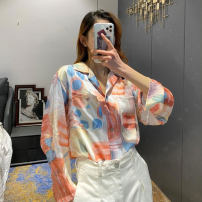 Women's large Spring 2021 Picture color S,M,L,XL,2XL shirt singleton  commute moderate Cardigan Long sleeves Abstract pattern routine other routine 31% (inclusive) - 50% (inclusive)