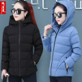 Women's large Winter of 2019 cotton-padded clothes singleton  commute easy thickening Cardigan Long sleeves Solid color Korean version Hood have cash less than that is registered in the accounts polyester fiber Three dimensional cutting routine Bainuoyi nest pocket Polyester 100% zipper