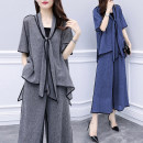 Women's large Summer 2020 Grey blue L XL 2XL 3XL 4XL 5XL Other oversize styles Two piece set commute easy thin Socket Short sleeve Solid color Korean version other routine other Three dimensional cutting routine KGLB54640 Magic shield 25-29 years old Asymmetry Other 100% Pure e-commerce (online only)