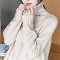 sweater Fall 2017 S M L XL Long sleeves Socket singleton  Medium length other 95% and above High collar thickening commute raglan sleeve Solid color A-type Regular wool Keep warm and warm 25-29 years old Kapore Other 100% Pure e-commerce (online only)