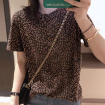 T-shirt Picture color S M L XL XXL Spring 2020 Short sleeve Crew neck easy Regular routine commute other 96% and above 25-29 years old youth Leopard Print Woka W20QU1001 Other 100% Pure e-commerce (online only)