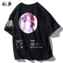 T-shirt T268 black S M L XL 2XL Summer 2021 Short sleeve Crew neck easy Regular routine street cotton 96% and above 18-24 years old other Ramo / rambling 21C329 printing Cotton 100% Hip hop