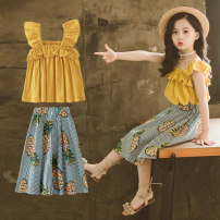 Dress Yellow pink female Taylor Other 100% summer princess Skirt / vest other other A-line skirt Summer 2020 2 years old, 3 years old, 4 years old, 5 years old, 6 years old, 7 years old, 8 years old, 9 years old, 10 years old, 12 years old, 13 years old, 14 years old