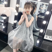 Dress The sky is grey and the stars are blank female Taylor Other 100% summer princess Skirt / vest Solid color other A-line skirt MZ-2154 Summer 2020 Chinese Mainland Zhejiang Province