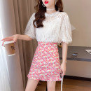 Fashion suit Summer 2021 S M L XL White top + pink skirt white top + purple skirt white top + green skirt 18-25 years old Yiqing Dai 81% (inclusive) - 90% (inclusive) Other 100% Pure e-commerce (online only)