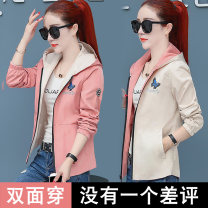 short coat Autumn of 2019 M L XL 2XL 3XL 4XL Long sleeves have cash less than that is registered in the accounts routine singleton  easy Versatile routine Hood zipper Solid color 25-29 years old Love 17 96% and above Zipper printing ef812 polyester fiber polyester fiber Polyester 100%