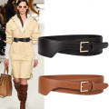Belt / belt / chain Double skin leather Black (small) black (medium) black (large) coffee (small) coffee (medium) coffee (large) Khaki (small) Khaki (medium) Khaki (large) female Waistband Versatile Single loop Youth, middle age and old age Pin buckle Geometric pattern Glossy surface 6.5cm alloy yes