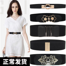 Belt / belt / chain other female Waistband Simplicity Single loop Youth, middle age and old age a hook Flower design Patent leather alloy Lace elastic Heart talk dream 65cm 70cm 75cm Spring and summer 2017 yes