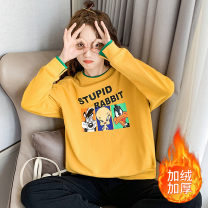 T-shirt S M L XL Summer 2020 Long sleeves Crew neck easy Regular routine Sweet polyester fiber 86% (inclusive) -95% (inclusive) 18-24 years old youth Cartoon letters topic of conversation Ht95t193 light blue printing Polyester 95% polyurethane elastic fiber (spandex) 5% Pure e-commerce (online only)