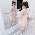 Dress Pink dm-83029 [standard size of regular large factory] pink ly552 [standard size of regular large factory] collection, purchase and delivery priority female Song Flag 110cm 120cm 130cm 140cm 150cm 160cm Other 100% spring and autumn princess Long sleeves Solid color other Fluffy skirt DM-83029