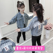 Plain coat Song Flag female 110cm120cm130cm140cm150cm160cm Denim spring and autumn Korean version Single breasted There are models in the real shooting routine nothing other Denim other WT55 Other 100% Class B Autumn of 2018