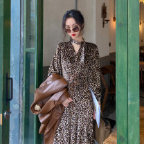 Dress Autumn 2020 Leopard print dress S spot, m spot, l spot, s pre-sale 18 working days, m pre-sale 18 working days, l pre-sale 18 working days