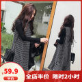 Women's large Autumn of 2018 Two piece set of suspender skirt and base coat M L XL 2XL 3XL 4XL Dress Two piece set Sweet easy moderate Socket Long sleeves Crew neck Medium length Three dimensional cutting routine QYL3099-YS Dieliting 18-24 years old longuette Other polyester 95% 5% Pleated skirt