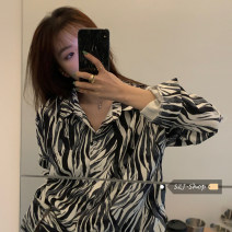 shirt Zebra shirt Average size Spring 2021 other 30% and below Long sleeves commute Regular Polo collar Single row multi button routine 18-24 years old Straight cylinder Other / other