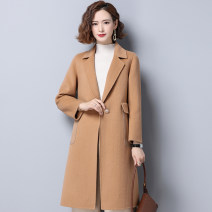 woolen coat Autumn 2020 S M L XL Camellia wool 95% and above Medium length Long sleeves commute A button routine tailored collar Solid color Self cultivation Korean version A noble man Button Solid color Wool 100% Pure e-commerce (online only)