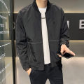 Jacket First tone Youth fashion Jk6601 black 4XL L XL 2XL 3XL routine Self cultivation motion spring JK6601H Polyester 100% Long sleeves Wear out Baseball collar tide routine Zipper placket Straight hem No iron treatment Closing sleeve Spring 2021 Pure e-commerce (online only) polyester fiber