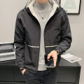 Jacket First tone Youth fashion Jk8811 black jk8811 off white M L XL 2XL 3XL 4XL thick easy Other leisure spring JK902 Polyester 100% Long sleeves Wear out Hood tide routine Zipper placket Cloth hem No iron treatment Closing sleeve polyester fiber Spring 2021 More than two bags) Side seam pocket