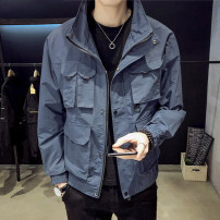 Jacket First tone Youth fashion 9909 blue 9909 black 9909 yellow 9909 Khaki M L XL 2XL 3XL 4XL thin easy Other leisure spring 9909-2 Polyester 100% Long sleeves Wear out Lapel tide youth Autumn 2020 More than two bags) Pure e-commerce (online only) polyester fiber More than 95%
