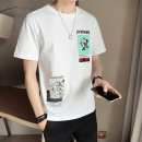 T-shirt Youth fashion Tx88042 gray tx88042 black tx88042 white thin M L XL 2XL 3XL 4XL First tone Short sleeve Crew neck easy motion summer TX88042-1 Cotton 100% routine tide Summer 2021 cotton No iron treatment Pure e-commerce (online only)