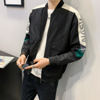 Jacket First tone Youth fashion Wz603 black wz603 Khaki M L XL 2XL 3XL 4XL routine easy Other leisure spring WZ603B Polyester 100% Long sleeves Wear out Baseball collar tide routine Zipper placket Rib hem No iron treatment Closing sleeve Color block polyester fiber Spring 2021 Cover patch bag