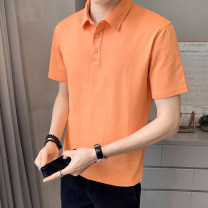 Polo shirt First tone Youth fashion routine 1225 orange 1225 black 1225 blue 1225 brick red 1225 white M L XL 2XL 3XL 4XL Self cultivation Other leisure summer Short sleeve 1125K tide routine youth Cotton 96.7% polyurethane elastic fiber (spandex) 3.3% other cotton No iron treatment Button decoration