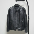 leather clothing Ayefifo / night flying bat Fashion City M,L,XL,2XL,3XL have cash less than that is registered in the accounts Leather clothes stand collar Slim fit zipper spring leisure time youth top layer leather Business Casual Straight hem Side seam pocket Multiple pockets