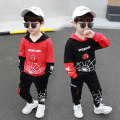 suit Seven color Island Red black thickening red thickening 90cm 100cm 110cm 120cm 130cm 140cm male spring and autumn motion Long sleeve + pants 2 pieces routine There are models in the real shooting Socket No detachable cap Cartoon animation children Expression of love YBCP-1927 Class B Spring 2021