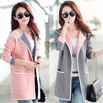 short coat Autumn of 2019 Long sleeves Medium length routine singleton  Self cultivation commute routine Solid color 71% (inclusive) - 80% (inclusive) other