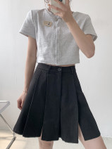 Casual pants Black, Khaki M,L,XL,2XL Summer 2021 Pant Wide leg pants High waist commute routine 18-24 years old 30% and below Other / other other Simplicity