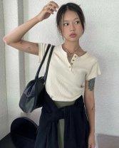 Fashion suit Spring 2021 S. M, l, average size Top, pleated skirt 71% (inclusive) - 80% (inclusive) cotton