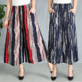 Casual pants Black, 1, 2, 3, 4, 5, 6, 7, 8, 9, 10, 12, 13, 14, 15, 16, 17, 18, 19 XL,2XL,3XL,4XL,5XL Spring 2020 Cropped Trousers Wide leg pants High waist commute Thin money 40-49 years old 31% (inclusive) - 50% (inclusive) Other / other Cotton blended fabric ethnic style printing and dyeing cotton
