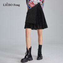 skirt Spring 2021 M L black Middle-skirt Natural waist 25-29 years old GK200067 More than 95% cut silk into pieces for writing letters other Other 100% Same model in shopping mall (sold online and offline)