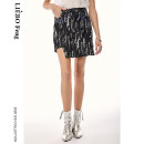 skirt Spring 2020 S M L Black color Short skirt commute Natural waist Type H 25-29 years old 51% (inclusive) - 70% (inclusive) cut silk into pieces for writing letters cotton Hand abrasion Retro Same model in shopping mall (sold online and offline)